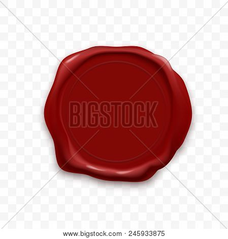 Stamp Wax Seal Or Sealing Wax Retro Vector Stamp