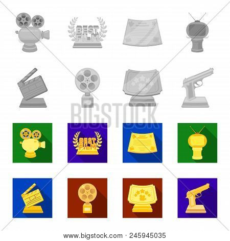 Gold Pistol, Silver Prize For The Best Supporting Role And Other Prizes.movie Awards Set Collection