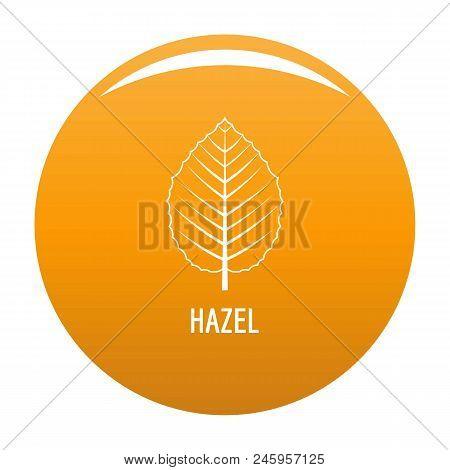 Hazel Leaf Icon. Simple Illustration Of Hazel Leaf Vector Icon For Any Design Orange