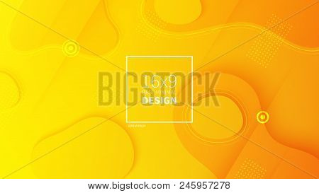 Futuristic Design Yellow Background. Templates For Placards, Banners, Flyers, Presentations And Repo