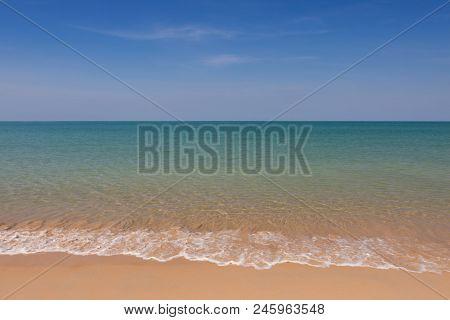 Wave And Blue Sky At Andaman Sea,thailand