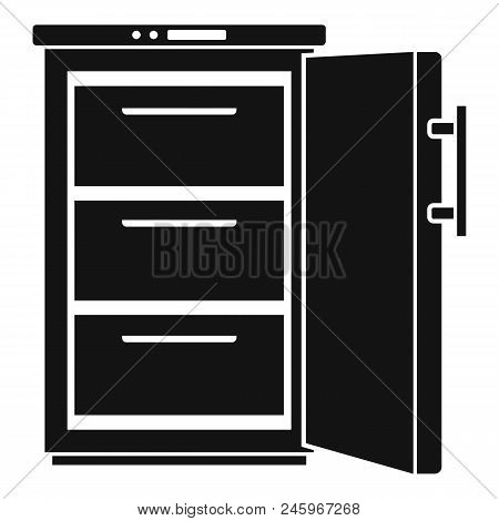 Refrigerator Icon. Simple Illustration Of Refrigerator Vector Icon For Web Design Isolated On White