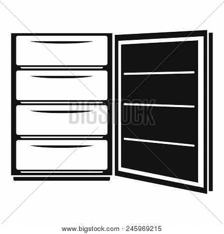 Open Refrigerator Icon. Simple Illustration Of Open Refrigerator Vector Icon For Web Design Isolated