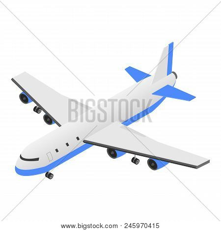 Delivery Plane Icon. Isometric Of Delivery Plane Vector Icon For Web Design Isolated On White Backgr