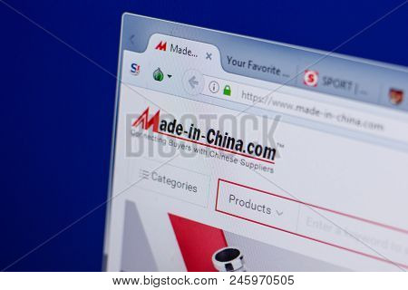 Ryazan, Russia - June 16, 2018: Homepage Of Made-in-china Website On The Display Of Pc, Url - Made-i