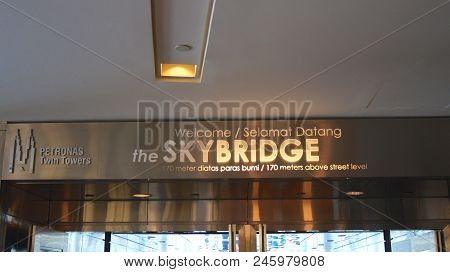 Kuala Lumpur, Malaysia - Apr 12th 2015: Skybridge, Located On 41th Floor, That Is 170 Metres Above S