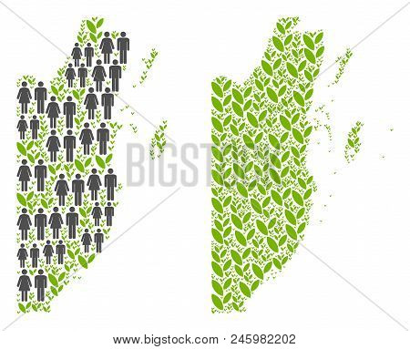 People Population And Eco Belize Map. Vector Concept Of Belize Map Done Of Randomized Person And Blo