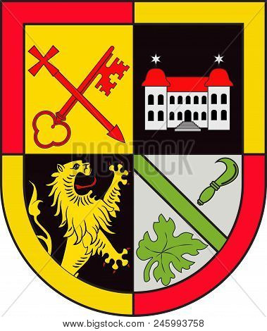 Coat Of Arms Of Bad Bergzabern Is A Collective Municipality In The Suedliche Weinstrasse District, I