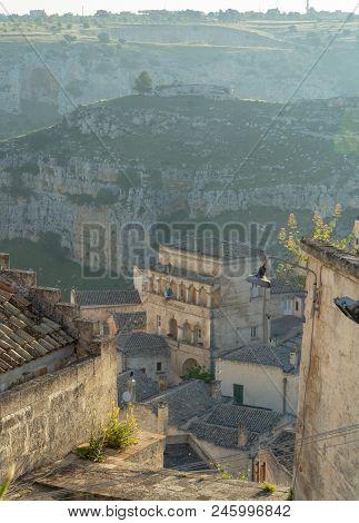 European Capital Of Culturein 2019 Year, Streets Of Ancient City Of Matera, Capital Of Basilicata,
