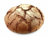 homemade bread on a white background close up poster