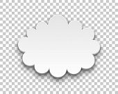 Quote style form cloud transparent background. Empty space for inserting words and sentences. Vector illustration poster
