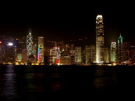 night panorama of Hong kong