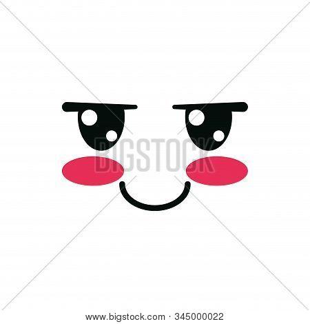 Shaggy Face Cartoon Design, Kawaii Expression Cute Character Funny And Emoticon Theme Vector Illustr
