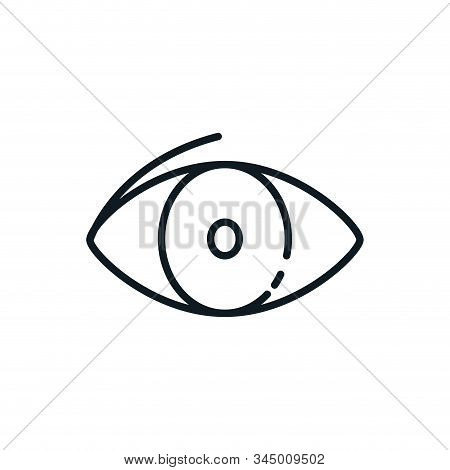 Eye Icon Design, View Look Vision Optical Human See Medicine Watch Outline And Sight Theme Vector Il