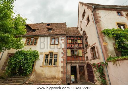 Houses in the historical village Riquewihr