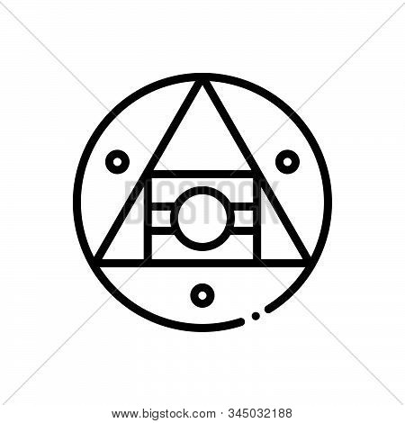 Black Line Icon For Hermetic Airtight Technology