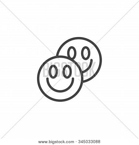 LSD tablets line icon. linear style sign for mobile concept and web design. Ecstasy Drug pills outline vector icon. Symbol, logo illustration. Vector graphics poster