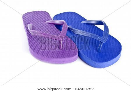 Colorful Flip Flop Isolated on White