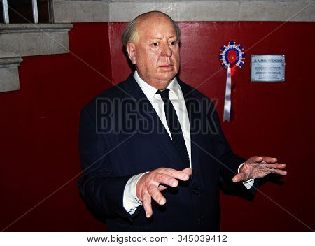 London / England, Uk - August 8, 2008: Madame Tussauds Wax Museum: Alfred Hitchcock