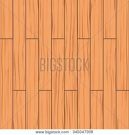 Oak Laminate Parquet Board Floor Texture. Planking In Checkerboard Pattern. Vector Illustration Back