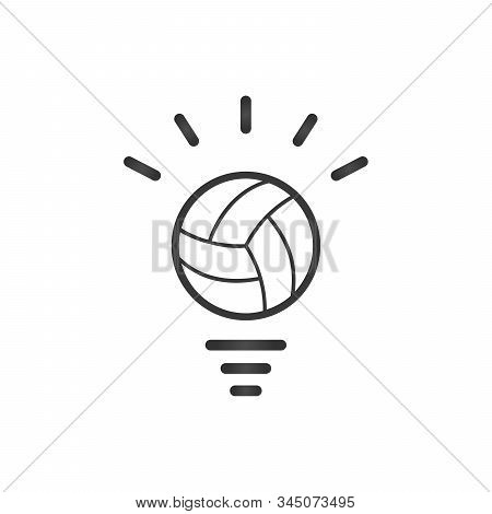 Light Bulb Made From Sport Ball, Light Bulb Conceptual Image. Idea Sport Symbol. Stock Vector Illust