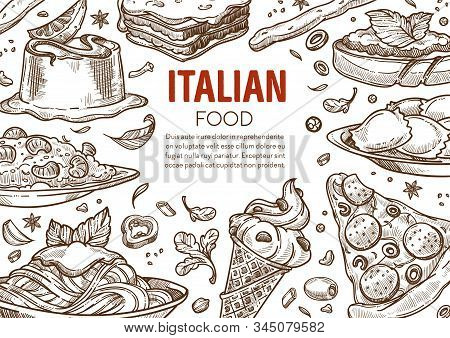 Pasta And Pizza, Italian Cuisine Dishes, Italy Restaurant Menu