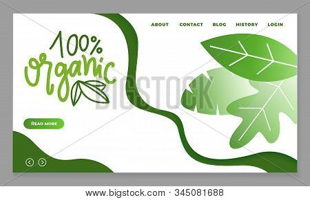 Organic Production And Meals, 100 Percent Guarantee. Dietary Nutrition With Ecological Goods. Foliag