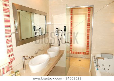 Bathroom In The Luxury Apartment, Pieria, Greece