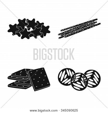 Vector Design Of Party And Cooking Symbol. Collection Of Party And Crunchy Vector Icon For Stock.