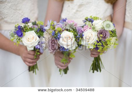 Wedding Bouquets Held By Bridesmaids