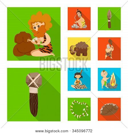 Isolated Object Of Evolution And Prehistory Symbol. Collection Of Evolution And Development Vector I