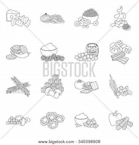 Vector Design Of Taste And Crunchy Sign. Collection Of Taste And Cooking Stock Symbol For Web.