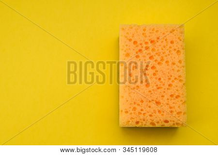 Yellow Dishwashing Sponges, Cleaners, Detergents, Household Cleaning Sponge For Cleaning, Household