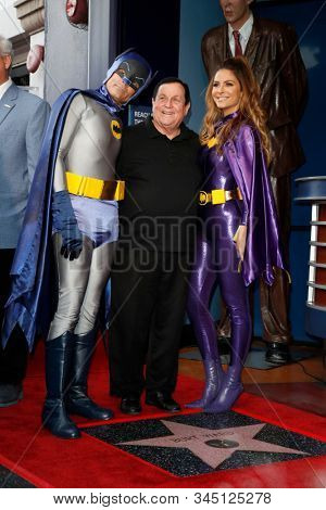 LOS ANGELES - JAN 9:  Keven Undergaro, Burt Ward, Maria Menounos at the Burt Ward Star Ceremony on the Hollywood Walk of Fame on JANUARY 9, 2020 in Los Angeles, CA