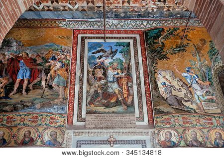 Palermo, Italy: Royal Persons And Myth Stories On Colorful Mosaic Of 12th Century Cappella Palatina