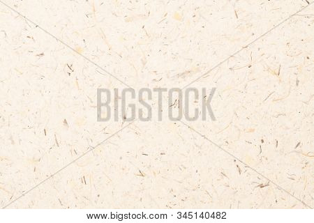 Mulberry Paper With Dry Flower, Fiber From Banana Tree And Leaf Texture Background. Recycle Paper, C