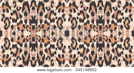 Dirt Leopard Drawing Vector Seamless Pattern. Dirt Bohemian Leopard Fabric Design Graffiti Designs.
