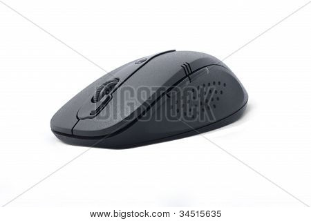 Black Wireless Computer Mouse