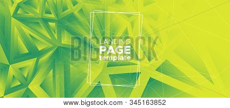 Geometric Mosaic Background. Triangular Poster. Ecology Vector Polygon Banner. Technology Diamond De