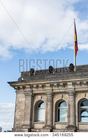 Reichstag Building, The Most Visited Parliament In The World, Historic Edifice In Berlin, Germany