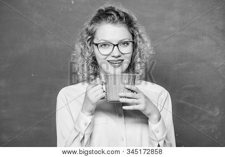 Morning Coffee. Good Morning. Girl Refreshing With Tea Drink. Idea And Inspiration. Energy And Vigor