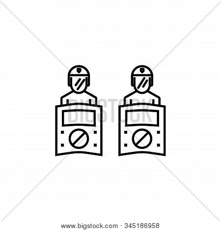 Riot, Riot Police, Protection Line Icon. Elements Of Protests Illustration Icons. Signs, Symbols Can