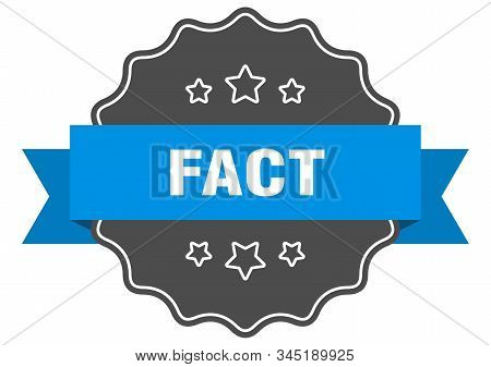 Fact Blue Label. Fact Isolated Seal. Fact