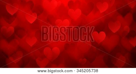 Background With Hearts On Valentine's Day