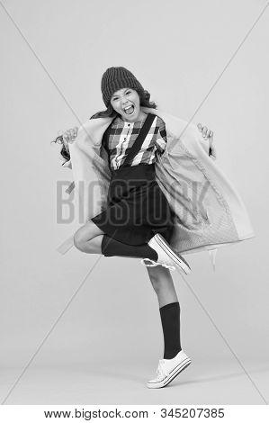 Rebel Teen Girl. Madcap Concept. Teen Age. Girl Adorable Stylish Modern Teenager. Cool Schoolgirl. H