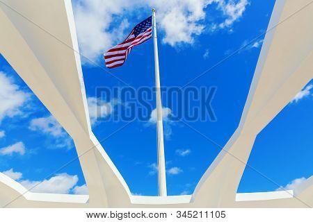 U.s.s. Arizona Memorial At Pearl Harbor, Honolulu, Hawaii