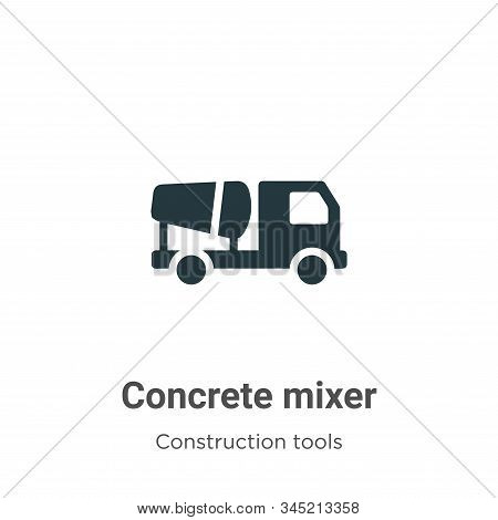 Concrete mixer icon isolated on white background from construction tools collection. Concrete mixer