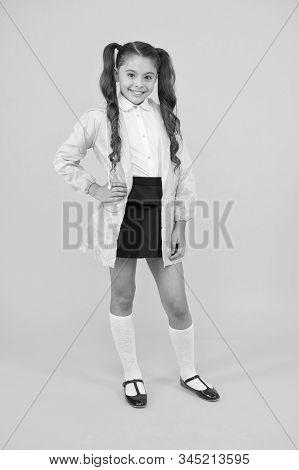 Waterproof Accessory. Kid Girl Happy Wear Waterproof Cloak. Enjoy Fall Weather With Proper Garments.