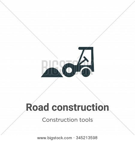 Road construction icon isolated on white background from construction collection. Road construction