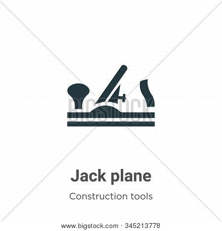Jack plane icon isolated on white background from construction collection. Jack plane icon trendy an